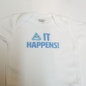 Shit happens  funny baby onesie. Makes a great gif